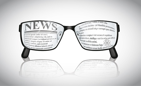 Eyeglasses News Stock Vector - 21721543