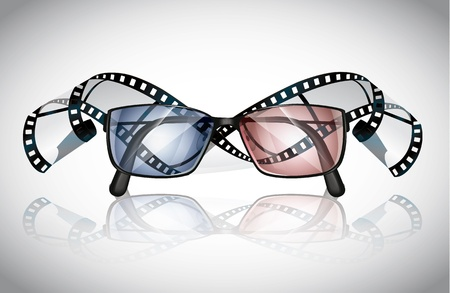 Glasses And Film Stock Vector - 21721545