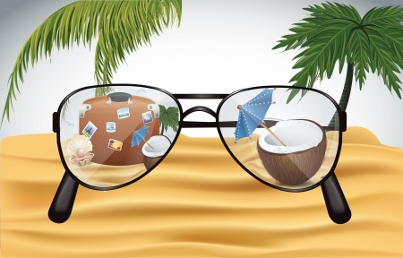 Holiday Sunglasses Vector