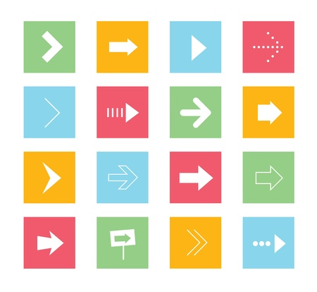 Vector Arrows Icons Set 1  Stock Vector - 21721625