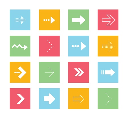 Vector Arrows Icons Set 2 Stock Vector - 21721631