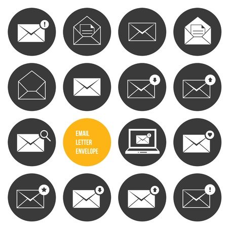 received: Vector Envelope Business Shopping and Other Icons for Email