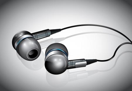 Mini Headphones  Illustration