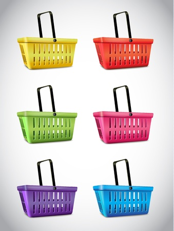 empty basket: Plastic Basket Set