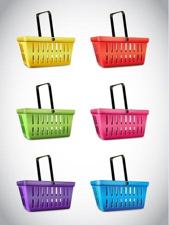 empty basket: Plastic Basket Set