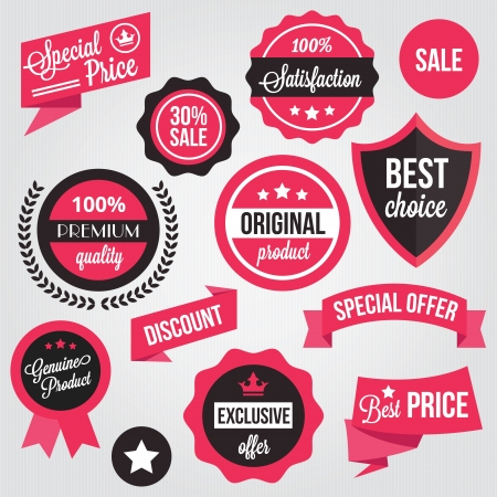 Vector Badges Stickers and Labels Set  Vector