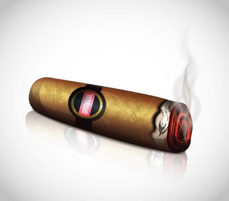 cigarro: Cigarro Vectores