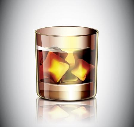 bourbon whisky: Glass Of Whiskey