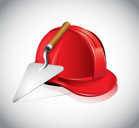 bricklayer: Helmet Trowel Icon
