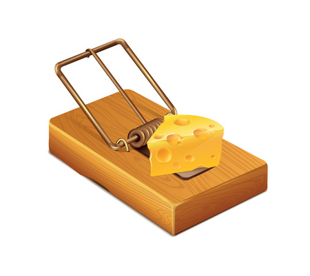 Mousetrap Cheese Vector