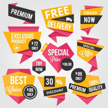 best price: Premium Vector Sale Badges and Labels