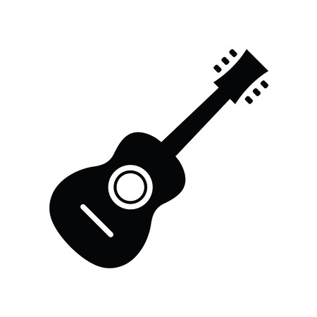 electric guitars: Vector Acoustic Guitar Icon