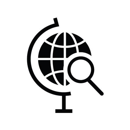 Vector Globe Search Icon Stock Vector - 22359466