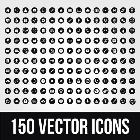 email: 150 Universal Icons for Mobile and Web Illustration