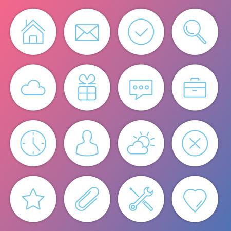 close button: Modern Minimalistic Icons Set  Illustration