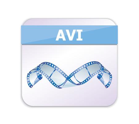 avi: AVI Icon  Illustration