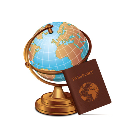 environment geography: Globe Passport Travel Icon