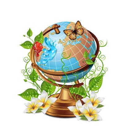 plant stand: Nature Globe Icon