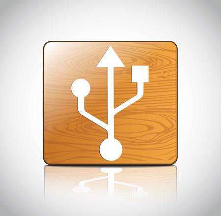 pendrive: USB Icon