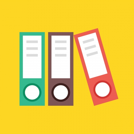 stacked books: Vector Binders Icon
