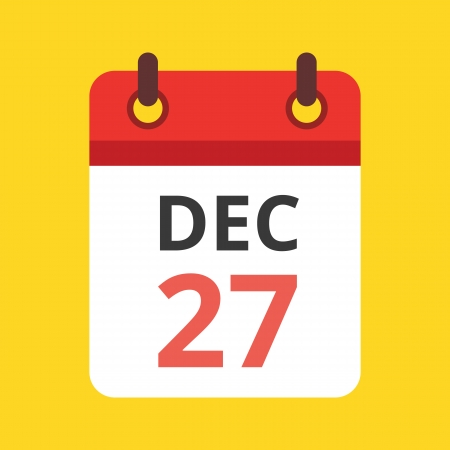 the date: Vector Calendar Icon Illustration