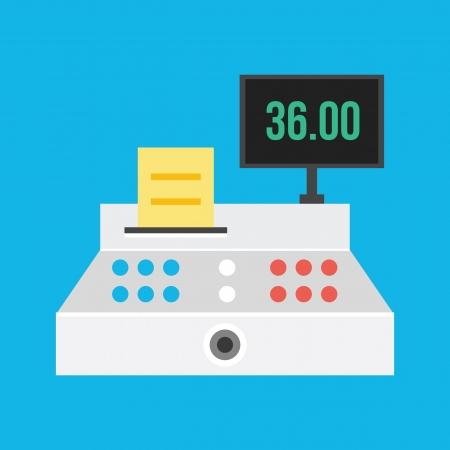 Vecteur Cash Register Icône Vecteurs