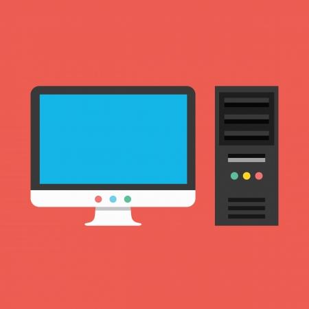 Vector Computer Icon Vector