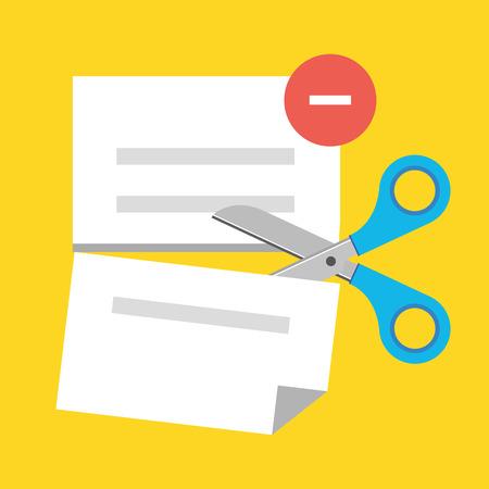 Vector Delete Document Icon Vector