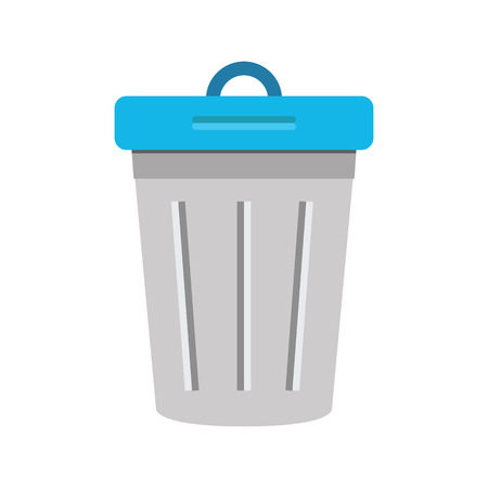 wastepaper basket: Vector Dustbin Icon Illustration