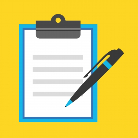 questionnaire: Vector Form Icon Illustration