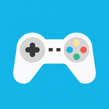 game console: Vector Gamepad Icon Illustration