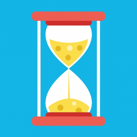 sand grains: Vector Hourglass Icon