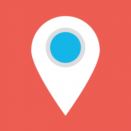 Map Label Icon Vector