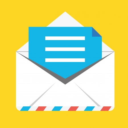 Opened Envelope Icon Stock Vector - 22811507