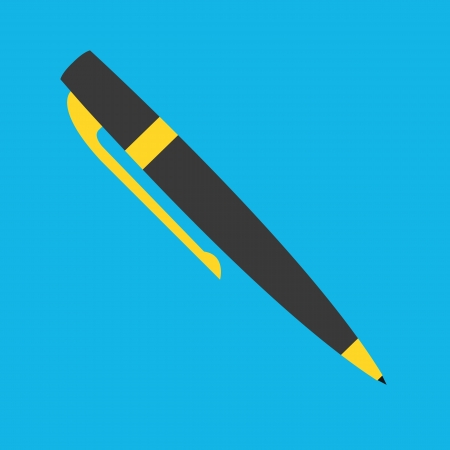 ball pen: Pen Icon Illustration