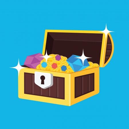 Treasure Chest Icon Stock Vector - 22810792