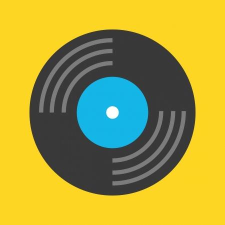 Vinyl Record Icon Stock Vector - 22810757