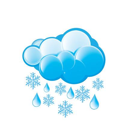 metrology: Snow And Rain Icon