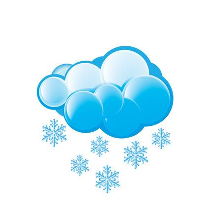metrology: Snow Icon Illustration