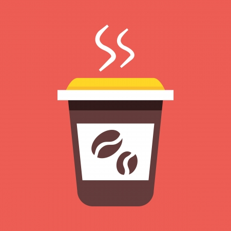 Vector Coffee Cup Icon  Stock Vector - 22860149