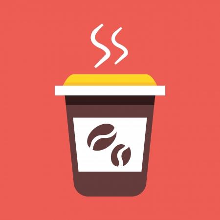 Vector Coffee Cup Icon Stock Vector - 22860149