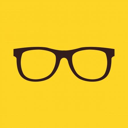 eyeglass frame: Vector Glasses Icon