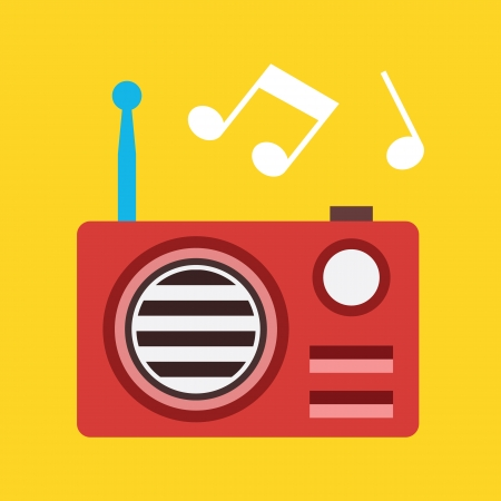radio station: Vector Radio Icon  Illustration