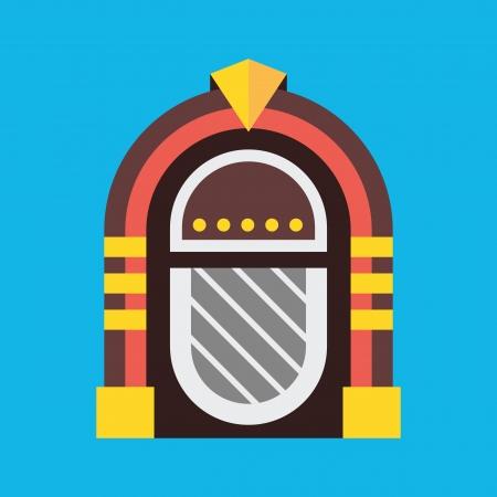шпон: Вектор ретро Jukebox Иконка