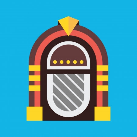 Vector Retro Jukebox Icoon