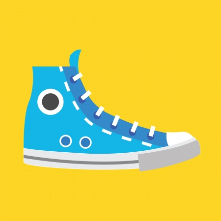 blue shoes: Vector Sneaker Icon