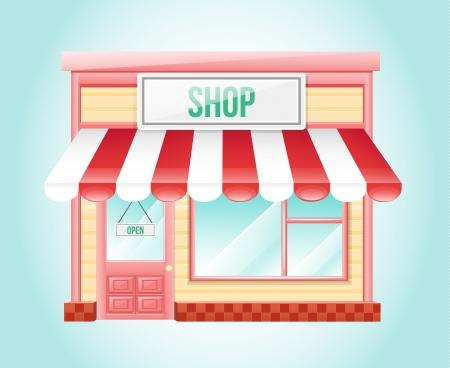 Shop Market Icon  Vector