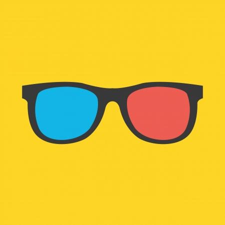 Vecteur lunettes 3D Icône