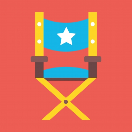 Vector Director Chair Icon Illustration