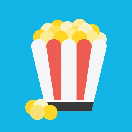Vector Popcorn Icon Stock Vector - 22952524